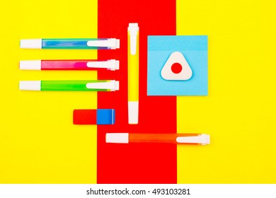 Stationery on an abstract background.