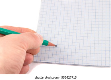 stationery, open notepad and pencil on it, writing