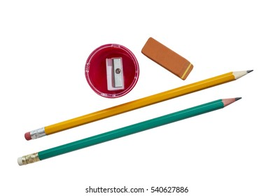 short pencils with erasers