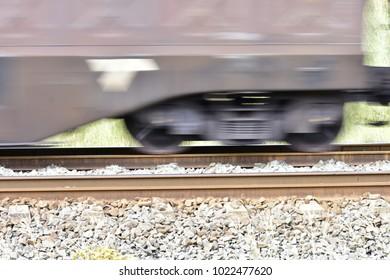 The Stationery Rail Tracks And The Speeding Train