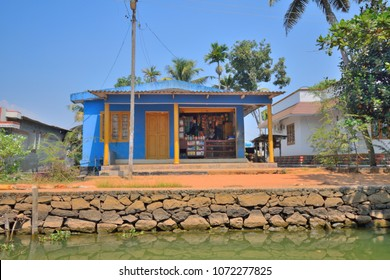 A stationery shop on the banks of backwaters in kerala.