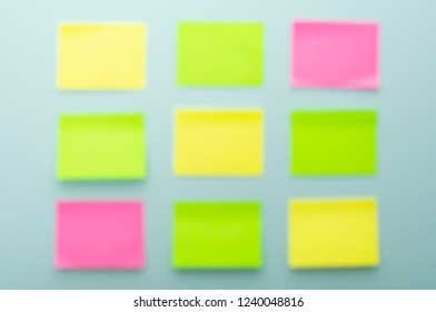 stationery stickers blurred background
