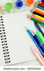 Stationery. Supplies for school.