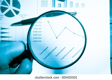 Statistics accounting info which including of many economic statistics such as bar chart and pie diagram on digital information screen refer to wealth management. -Business Research Statistics Concept