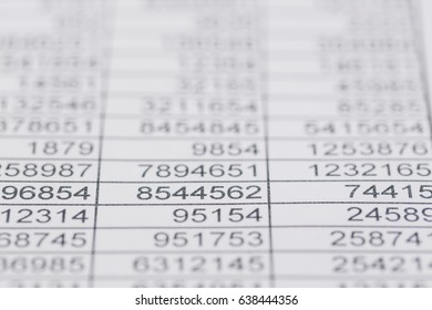 statistics and tables