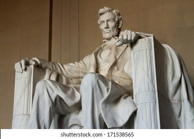 The statue of Abraham Lincoln, Lincoln Memorial, Washington DC