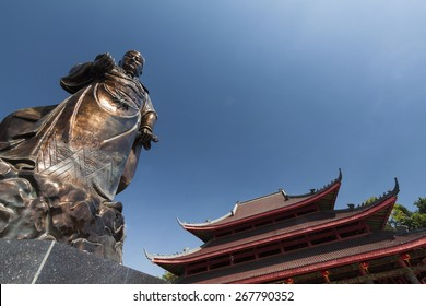 The Statue of Admiral Zheng He in Sam Poo Kong, Semarang, Central Java, Indonesia