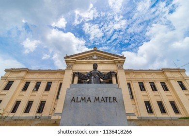 Statue of Alma Mater (Nourishing mother in Latin) by Mario Korbel, at Universidad de La Habana (The University of Havana), founded on 1728, one of the first in America, Vedado, Havana, Cuba.