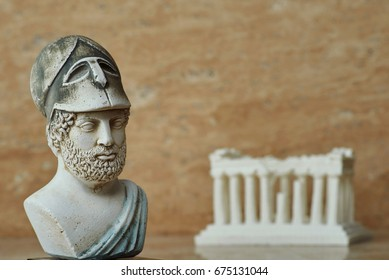Statue of ancient Athens statesman Pericles.