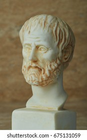 Statue of ancient Greek philosopher Aristotle.