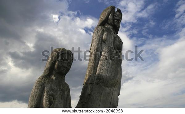 statue of an ancient pagan goddess
