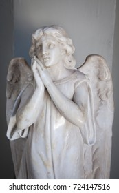 Statue of an angel at a church