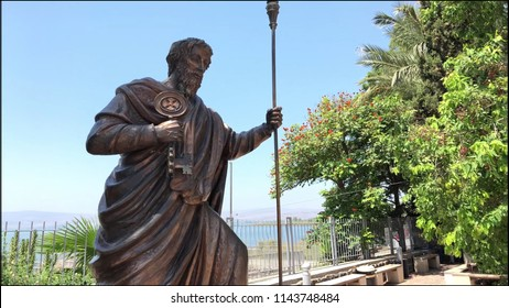 Statue of the Apostle Peter in his hometown of Capernaum.