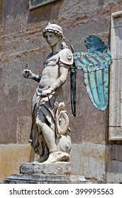 The statue of Archangel Michael in Rome, Italy