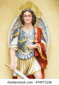 The statue of the Archangel (St. Michael)