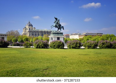 Statue of Archduke Charles( Erzherzog Karl) on Heroes ' square the end of 1859. Vienna, Austria