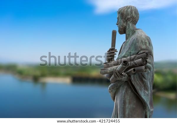 Estatua de Aristóteles, un gran filósofo griego