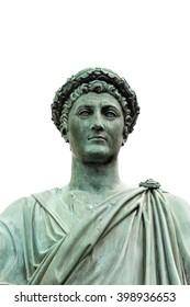 Statue of Armand Emmanuel Sophie Septimanie de Vignerot du Plessis, Duke Richelieu in a roman toga and laurel wreath