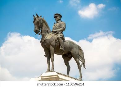 Statue of Ataturk in Ankara Turkey