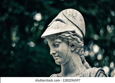 The statue. Athena