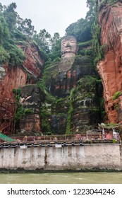 The statue of Big Buddha of Leshan, an Unesco World Heritage Site