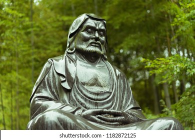 A statue of Bodhidharma, a Buddhist monk traditionally credited as the transmitter of Zen to China. Picture taken at the Temple Kencho-ji in Kamakura, Japan.