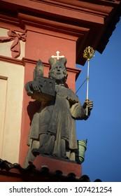 statue of Boleslav II. - cathedral of St.George - Shutterstock ID 107421254