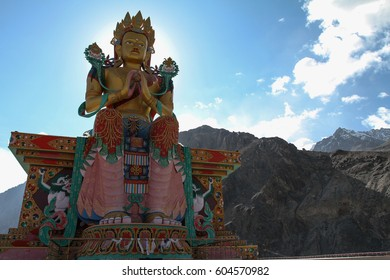 Statue of buddha statue in Kashmir