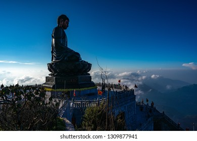 Statue of Buddha on Fansipan Mountain, Sapa, Vietnam