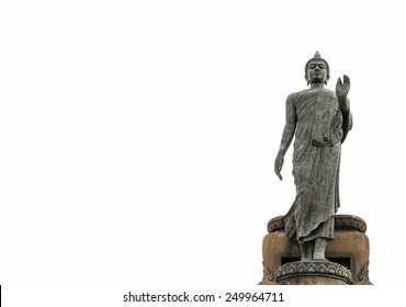 The Statue of Buddha on white background.