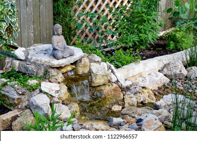 Zen stones images stock photos vectors shutterstock a statue of buddha overlooks a backyard do it yourself japanese zen garden with solutioingenieria