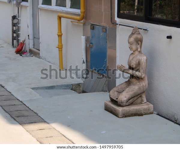 Statue Buddha Shade Stock Photo Edit Now 1497959705