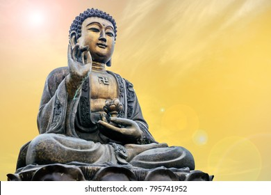 Statue of Buddha in sky background Giant Buddha Statue