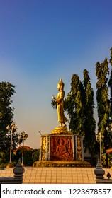 Statue of the Buddha stood beautifully, at Thailand.