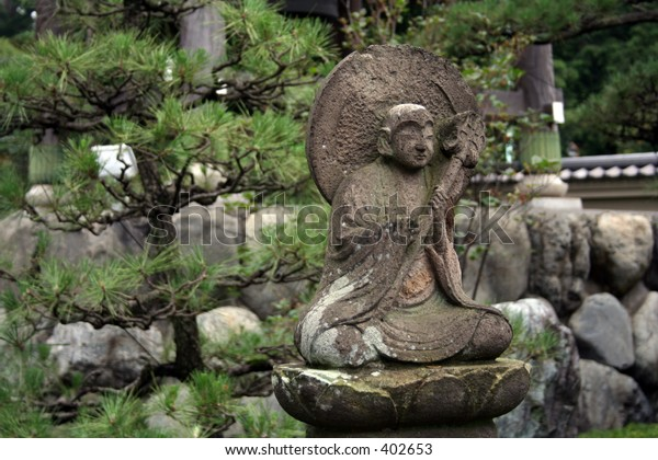 Statue at a Buddhist Temple in the outskirts of Tokyo, Japan