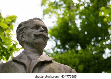 Statue bust in Carol Park, Bucharest - Romania