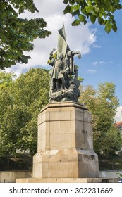 Statue of Caminha who was a Portuguese knight that accompanied Pedro Alvares Cabral to India in 1500.
