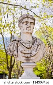 statue in Capricho garden in Madrid, Spain