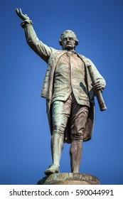 The statue of Captain James Cook in Hyde Park, Sydney, Australia