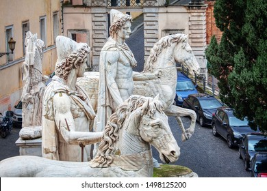 statue of Castor and Pollux in Rome