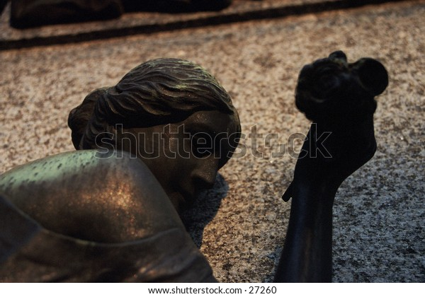 Statue in the Cementerio de la Recoleta