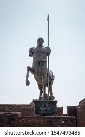 Statue of centaur Forum Pompeii Italy.