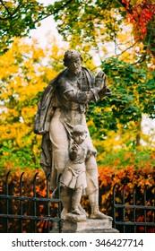 Statue in Cesky Krumlov, Czech Republic.