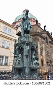 statue of Charles IV in Prague,capital of Czech republic