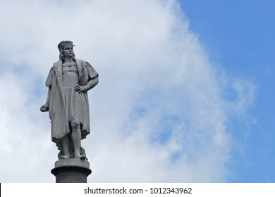 The statue of Christopher Columbus in Columbus Square, New York City