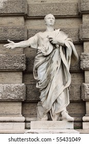Statue of Cicero in front of the Palace of Justice in Rome, Italy