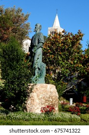 Statue of the City Park - the city of Rab, Croatia