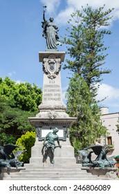 Statue of the Corregidora Josefa Ortiz de Dominguez in Santiago de Queretaro, Mexico