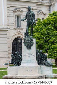 Statue of Count Festetics Gyorgy from Keszthely city - Hungary 06.Jun.2021 He was a landowner who lived between 1755-1819