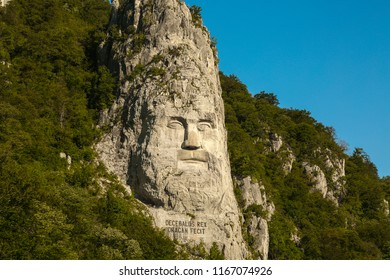 The Statue of Dacian king Decebalus is a 40-meter high statue that is the tallest rock sculpture in Europe. It is located on the Danube's rocky bank, near the city of Orşova, Romania.